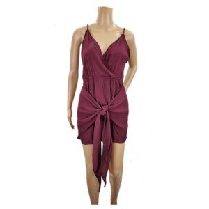 Tobi Women's Maroon Dress With Front Tie Size M